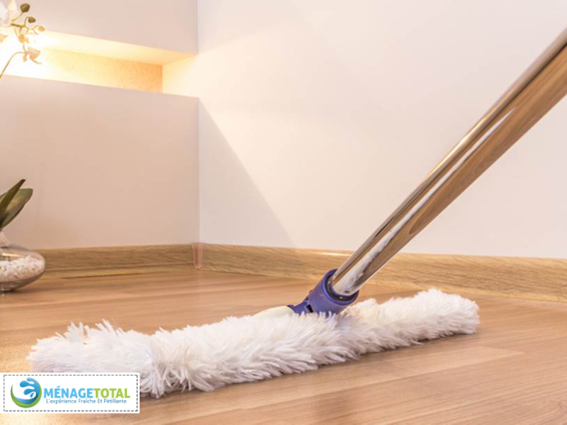 Mopping and sweeping the floors and wipe down the boards (20 minutes).