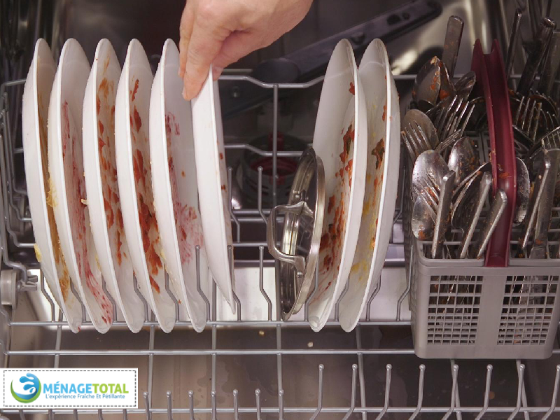 Moving Dirty Dishes in Dishwasher