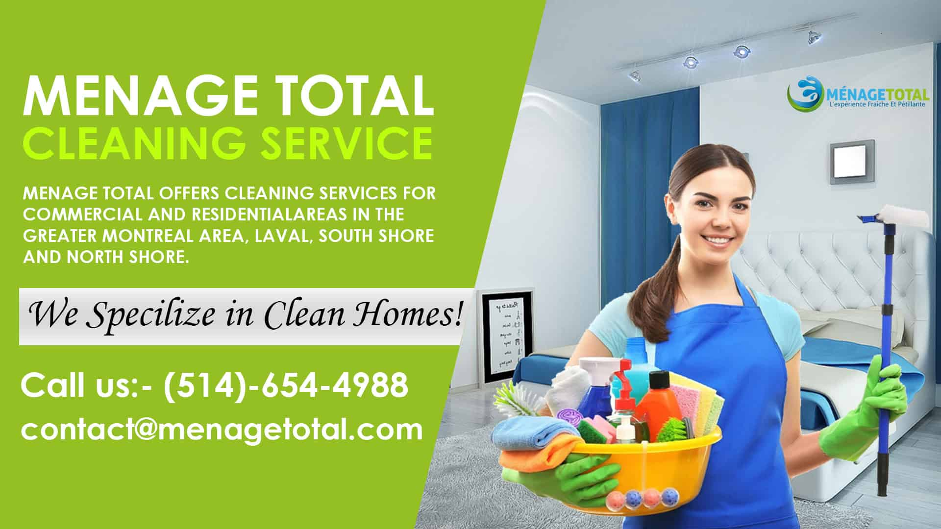 Menage Total South Shore and North Shore Cleaning Services